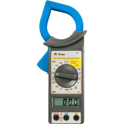 alicate amperimetro aviso azul cinza minipa digital et 3200a 39072 2000 189360