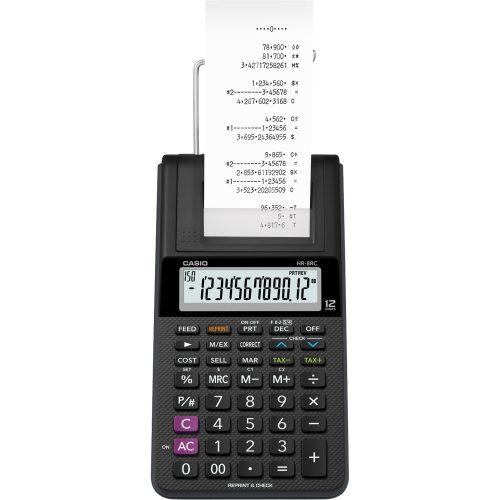 calculadora com bobina sensacional casio hr 8rc we b dc preta 12 digitos 45476 2000 193766