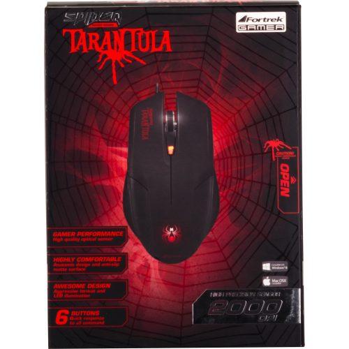 mouse usb gamer oferta fortrek om 702 preto vermelho spider tarantula 31032 2000 190994
