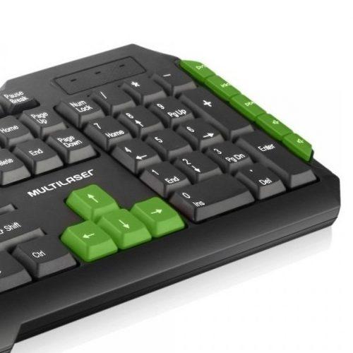 teclado gamer usb multimidia tc201 preto verde multilaser 37663 2000 201234