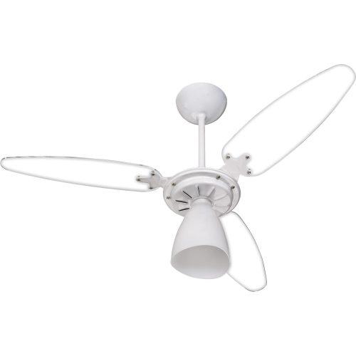 ventilador de teto mais recentes transparente ventisol wind light 3 pas 127v 41186 2000 185527