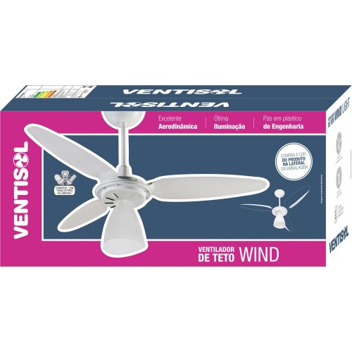 ventilador de teto mais recentes transparente ventisol wind light 3 pas 127v 41186 2000 185529