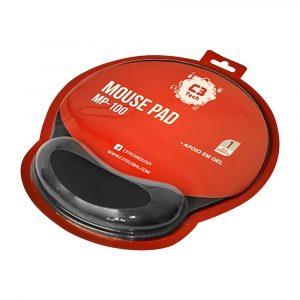 mouse pad com apoio em gel mp 100 c3tech preto 37775 2000 199305