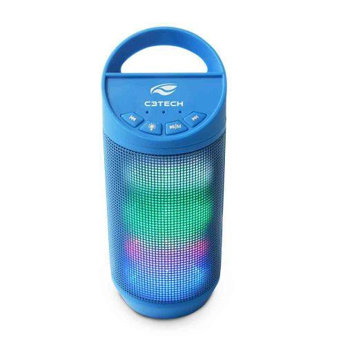 caixa de som novo azul c3tech 8w sp b50bl bluetooth beat 44193 2000 201458