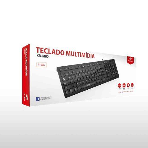 teclado usb multimidia kb m60bk c3tech 47369 2000 201215