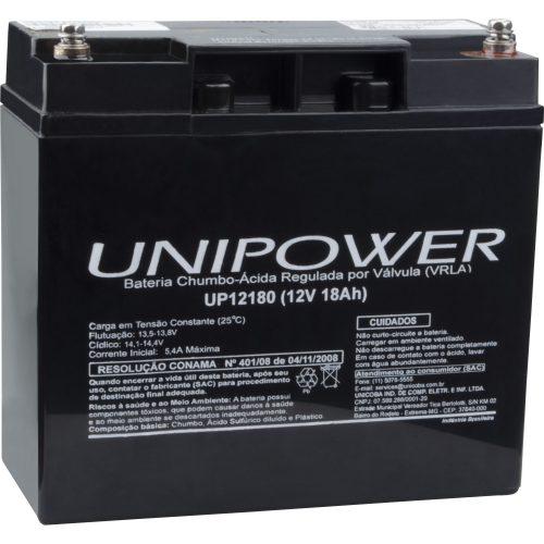bateria selada de excelente qualidade unipower 12v 18a up12180 43227 2000 180458