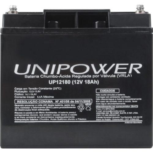 bateria selada de excelente qualidade unipower 12v 18a up12180 43227 2000 180459