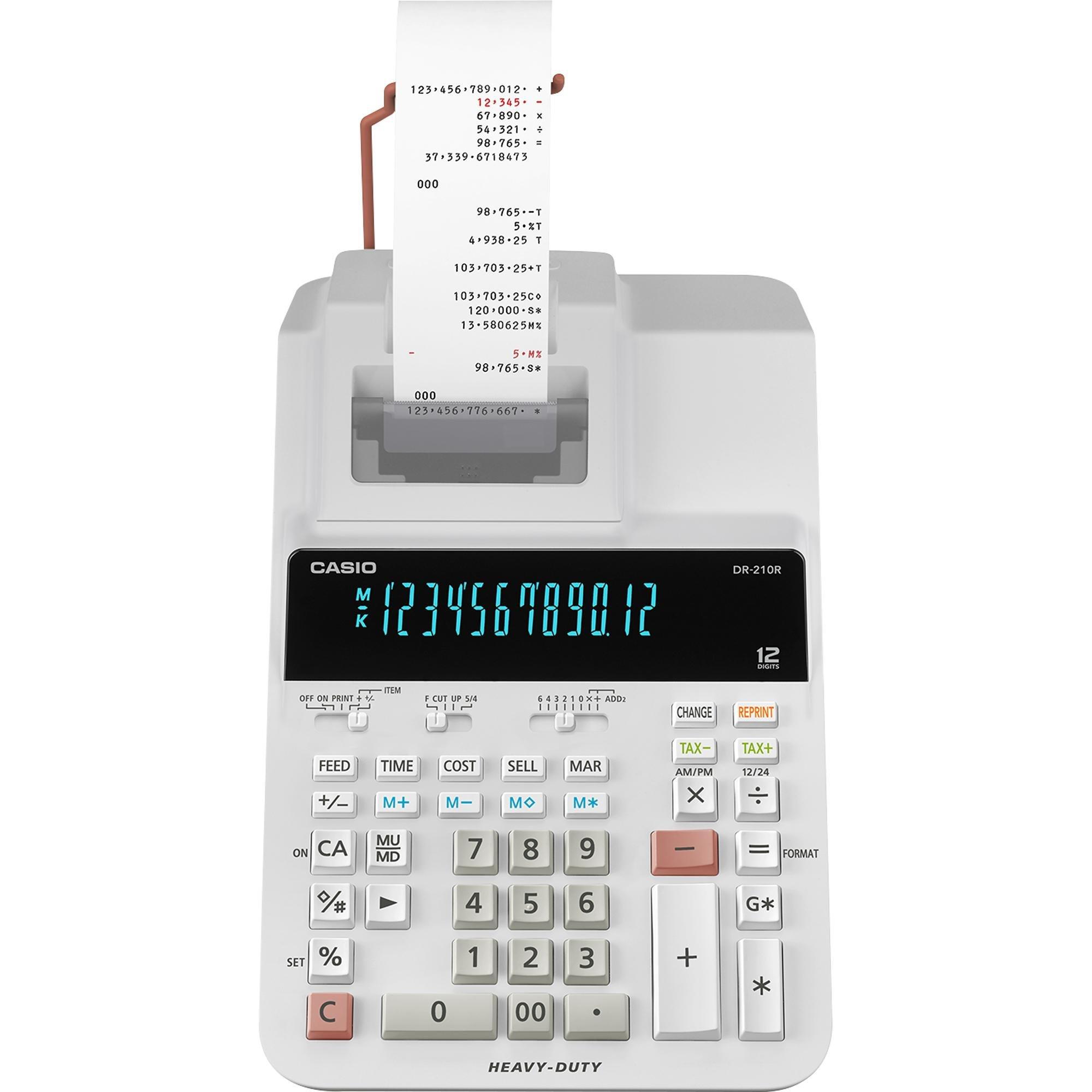 calculadora com bobina disponivel somente aqui dr 210r we casio 48111 2000 198792