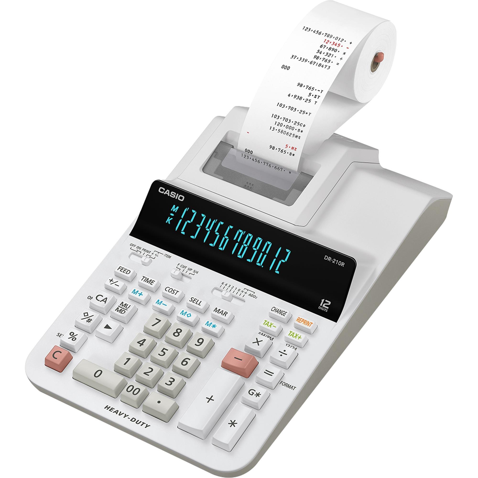 calculadora com bobina disponivel somente aqui dr 210r we casio 48111 2000 198793