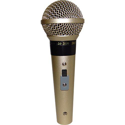 microfone profissional otimos resultados leson sm58 p4 champanhe com fio cardioide 45820 2000 194664