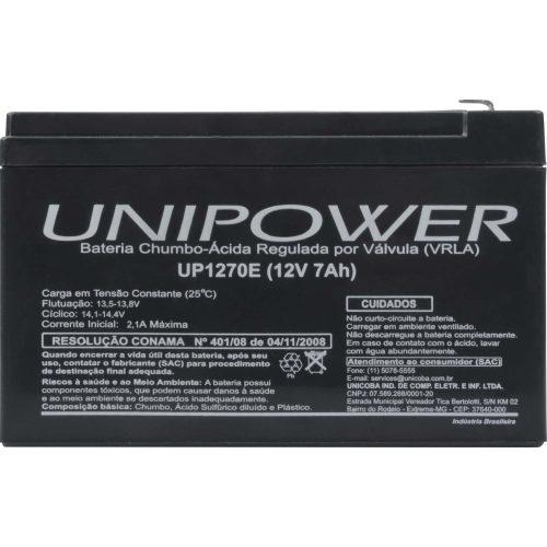 bateria selada oferta limitada 62636 unipower rer up1270 12v 7a 44027 2000 191940