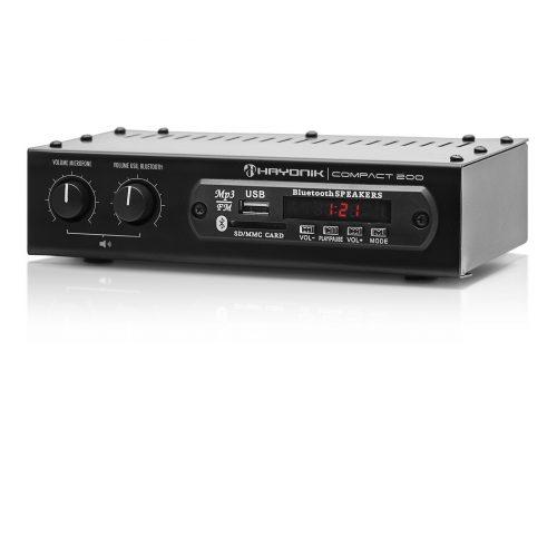amplificador 20w com bonita hayonik 200 preto bluetooth compact 41707 2000 184220