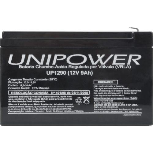 bateria selada desfrutando unipower 12v 9a up1290 43225 2000 180463