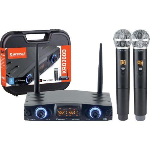 microfone de mao bonita krd200dm karsect duplo sem fio 48930 2000 199818