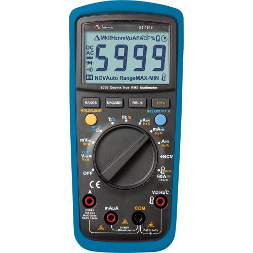 multimetro digital com confianca minipa et1649 preto e azul 41705 2000 184226