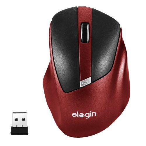 mouse sem fio 1600dpi moo2 elogin vermelho 49365 2000 200180