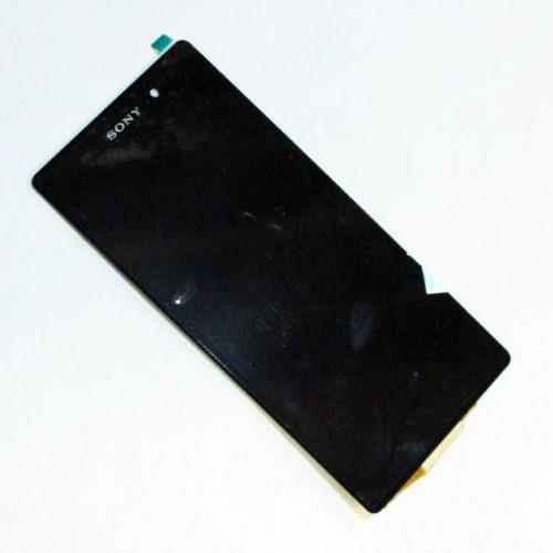 frontal completo celular sony z2 c6503 s aro preto 36815 2000 201005