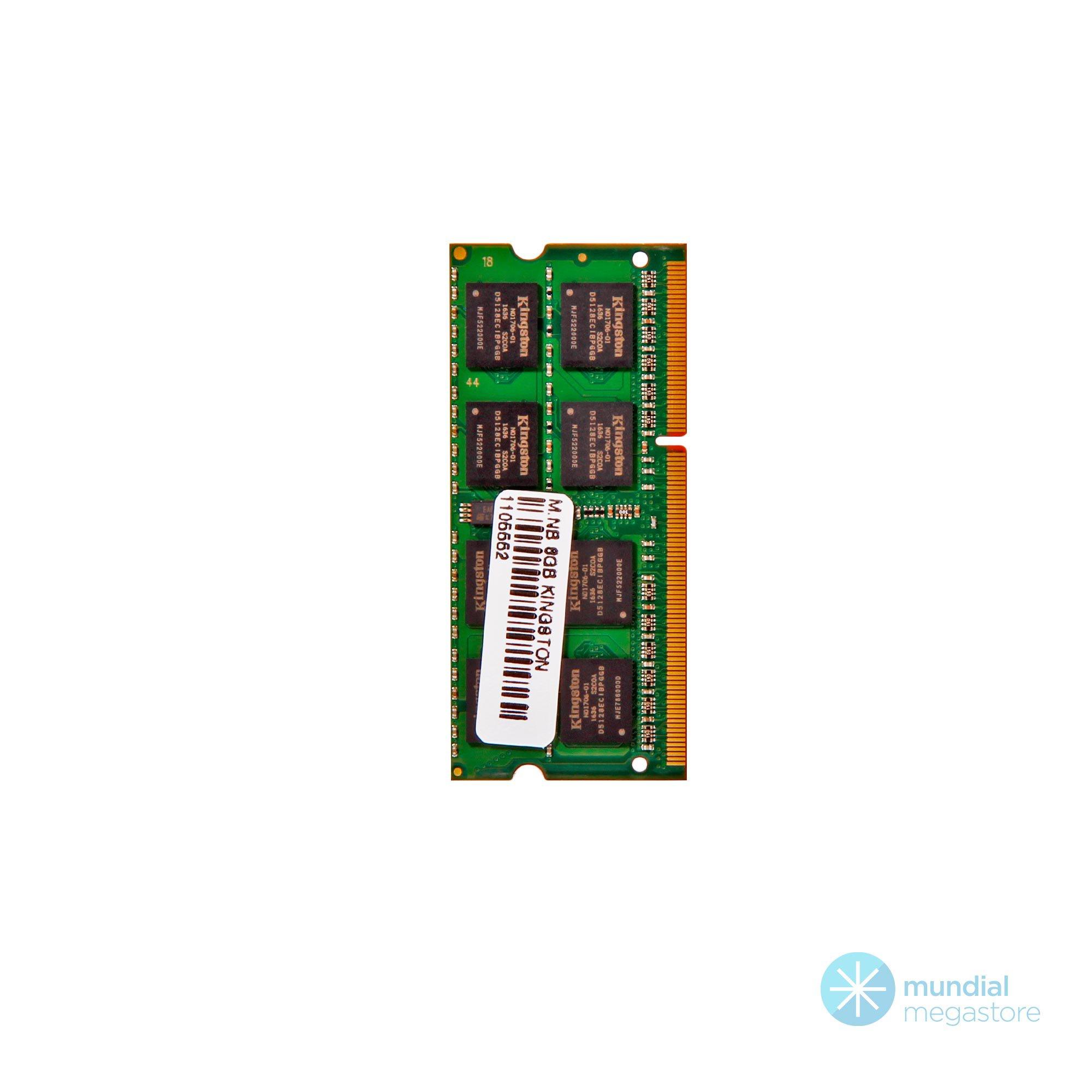 memoria notebook ddr3 8gb pc1333 kingston kvr133d3s9 8 21402 2000 196405