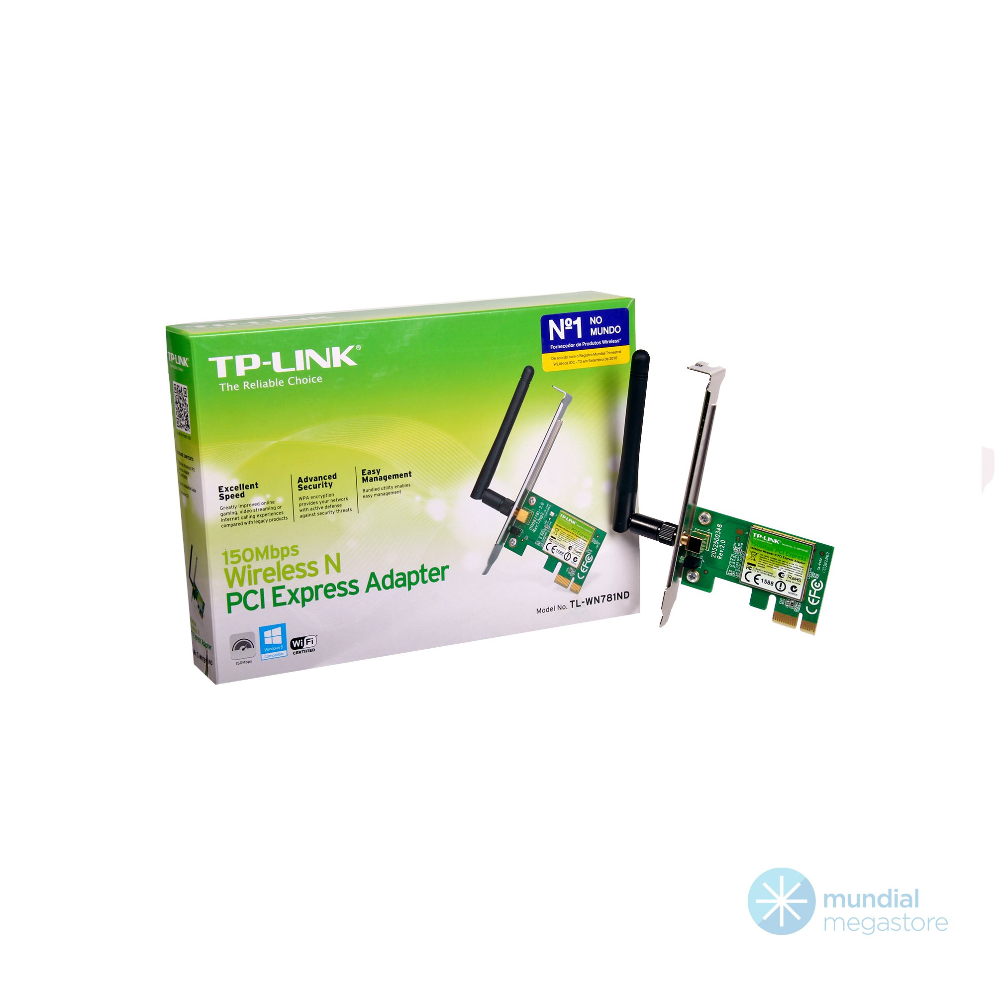 placa pci rede mini wireless tp link tl wn781 150mbps 35284 2000 195998