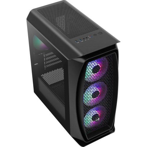 gabinete gamer oferta quente aerocool frost preto aero one mini mini tower 49622 2000 200600
