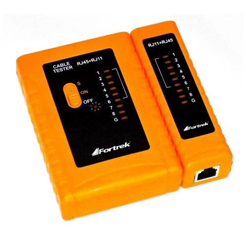 testador de cabos oferta limitada tcf101 fortrek e rj 45 lan rj 11 49627 2000 200595