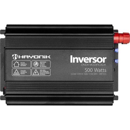 inversor de onda inesquecivel escuro hayonik 12vdc 127v usb cinza modificada 500w 49900 2000 201041