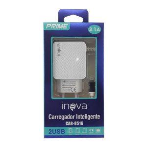 carregador rapido de celular iphone tomada inova preto 49664 2000 200919