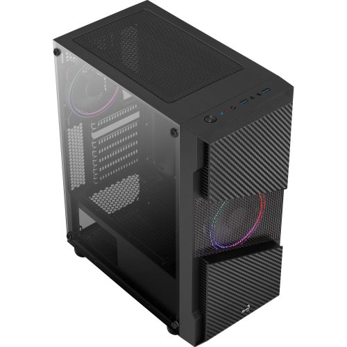 gabinete gamer bonita aerocool frgb preto menace saturn mid tower 50025 2000 201275
