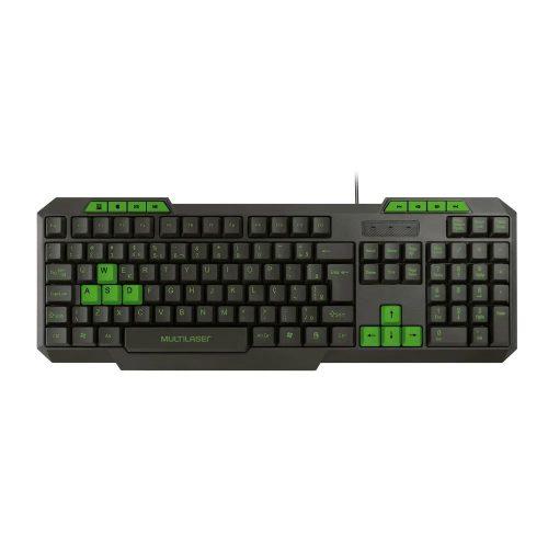 teclado gamer usb multimidia verde tc243 multilaser 49992 2000 201235