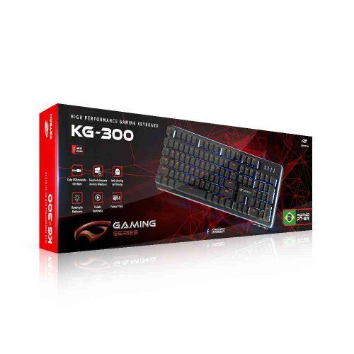 teclado gamer usb semi mecanico kg 300bk c3tech preto 49801 2000 201033