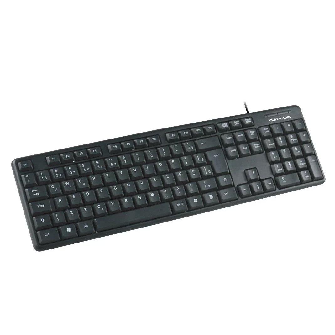 teclado usb padrao kb 15bx c3 plus preto 49708 2000 201265