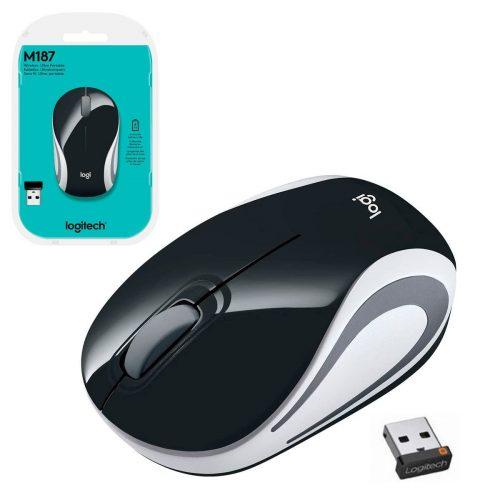 mouse sem fio logitech m187 24ghz preto 50106 2000 201464