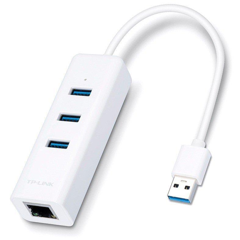 adaptador p rede rj45 com hub usb tp link ue330 49418 2000 200817 1