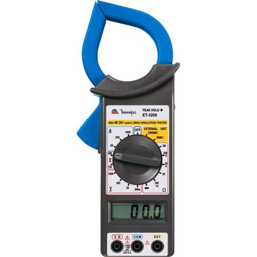 alicate amperimetro facil azul preto minipa digital et 3200 39071 2000 189361 1