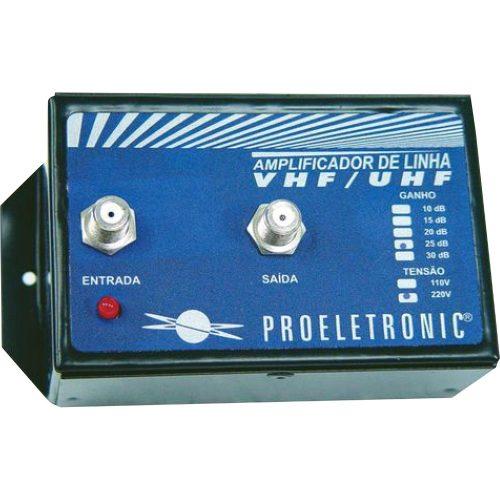 amplificador de linha conheca bivolt proeletronic 67270 vhf uhf 30db 47735 2000 197895 1