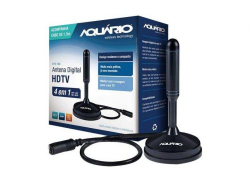 antena digital bonita dtv 100 aquario 25m vhf uhf fm hdtv com cabo 44217 2000 193671 1