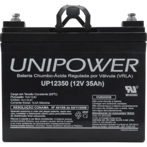 bateria selada incrivel 63296 unipower rer up12350 12v 35a 44760 2000 192931 1