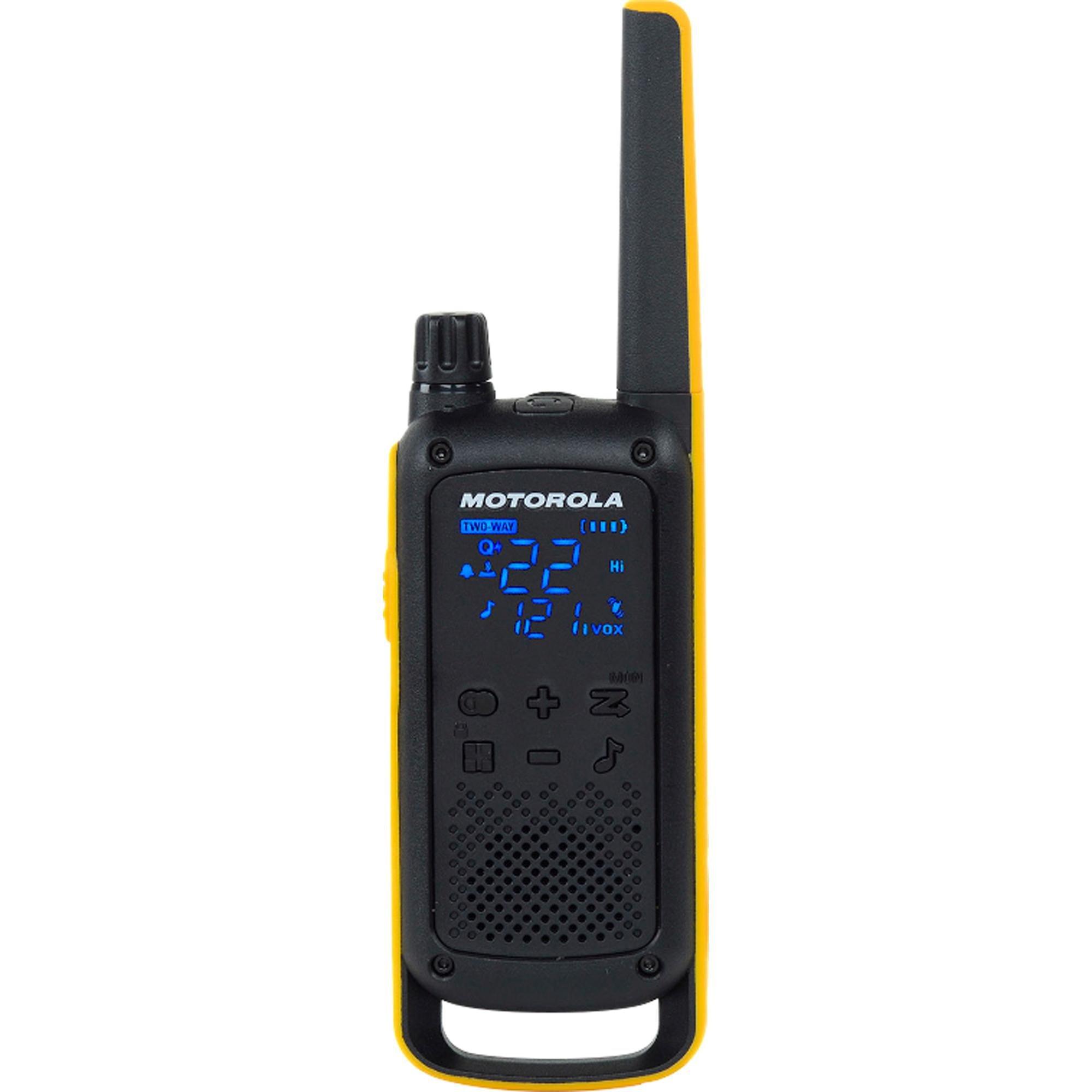 radio comunicador economize 2 motorola par t470br amarelo preto talkabout 35km 50299 2000 201586 1